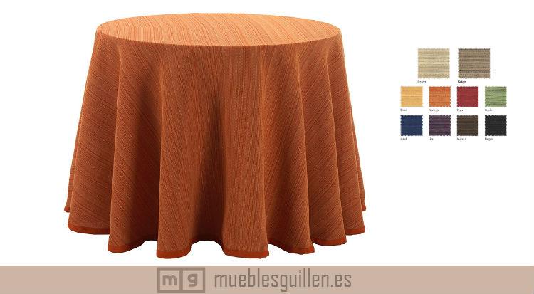 falda mesa camilla redonda